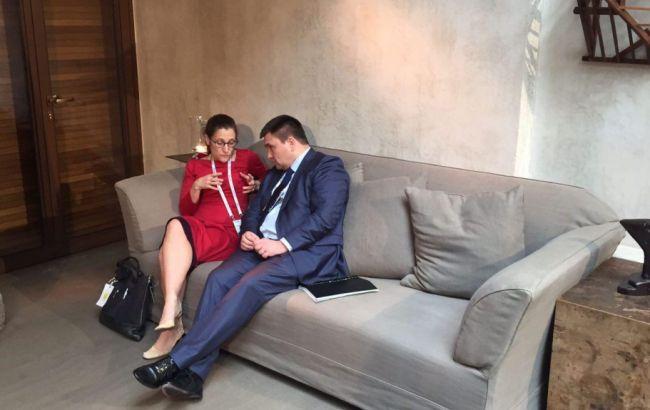 Фото: встреча Павла Климкина с Христей Фриланд