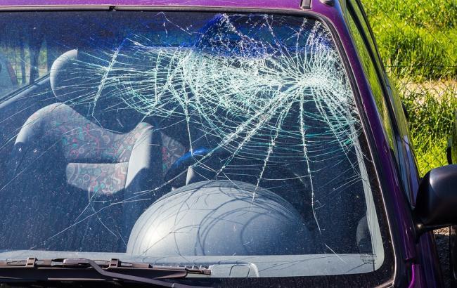 У Києві дерево, що впало, розчавило три машини