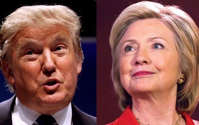 Фото: Дональд Трамп і Хілларі Клінтон