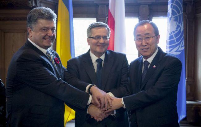 Порошенко закликав генсека ООН направити миротворців на Донбас