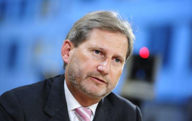 Фото: еврокомиссар Йоханнес Хан