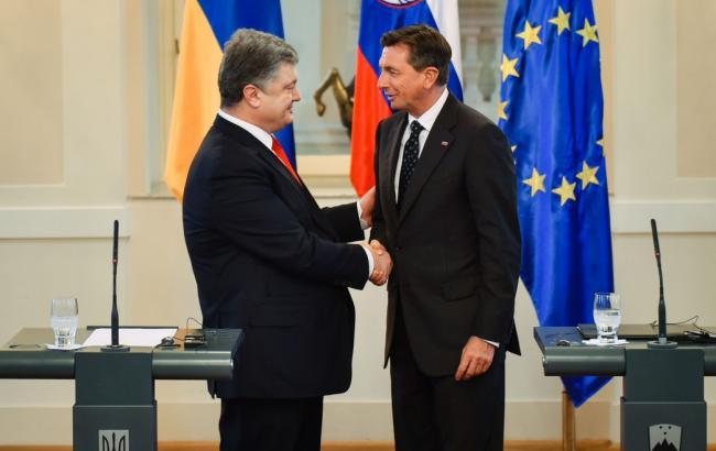 Фото: зустріч Петра Порошенка і Борута Пахора