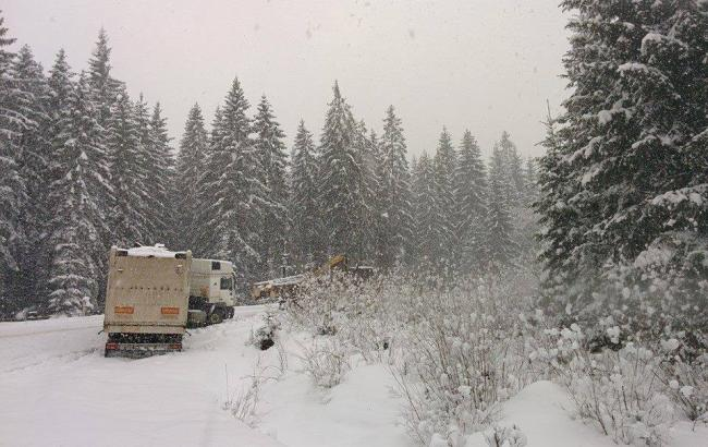 Фото: Сніг в Карпатах (meteoprog.ua)