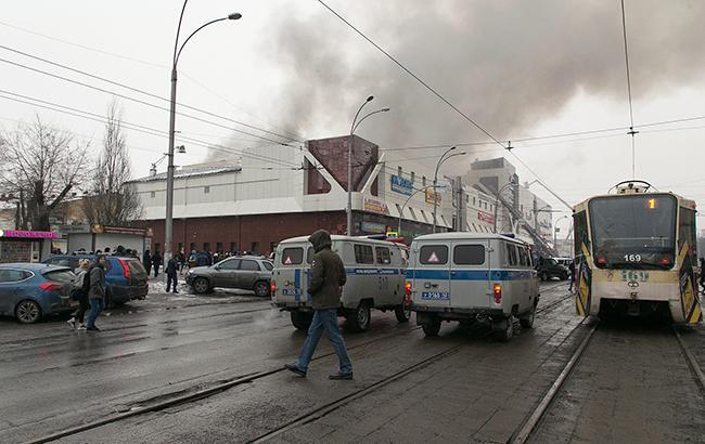 Фото: пожар в Кемерово (CGTNOfficial twitter)