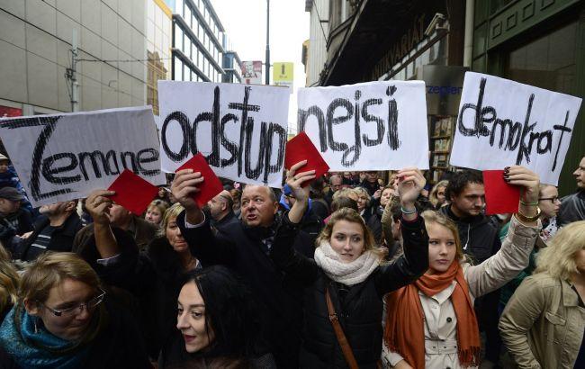 Фото: протести в Чехії