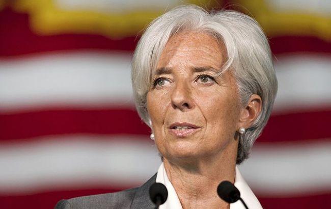 Фото: глава МВФ Кристин Лагард