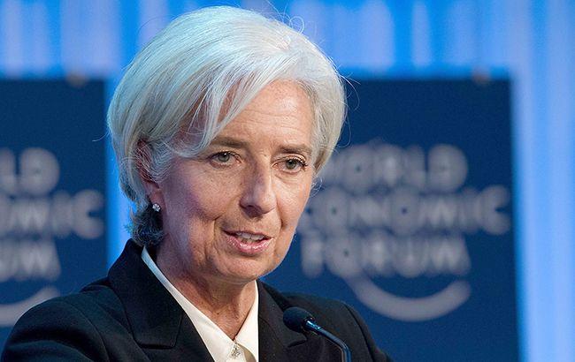 Фото: глава МВФ Крістін Лагард