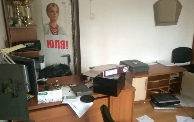 Фото: наслідки пограбування офісу (ba.org.ua)
