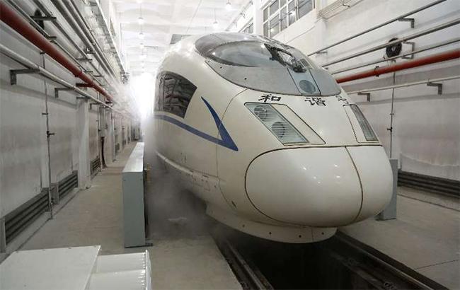 Фото: высокоскоростной поезд Fuxing (ChinaDailyUSA twitter)