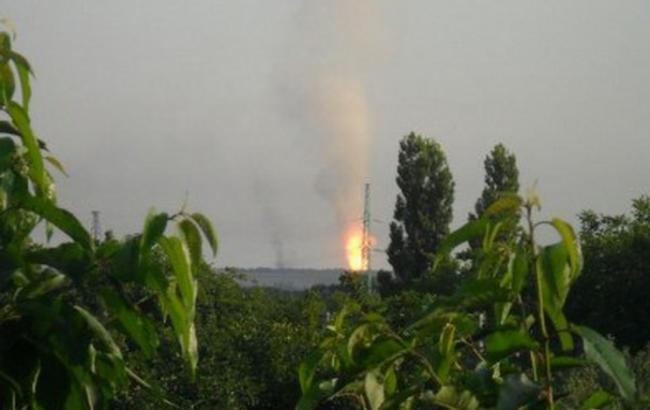 В результаті обстрілу під Донецьком загорівся газопровід, - МВС