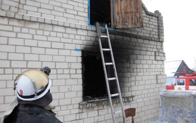 Фото: пожар произошел в Херсонской области