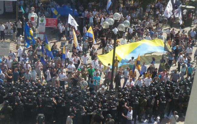 Штурм Ради: міліція затримала одного мітингувальника