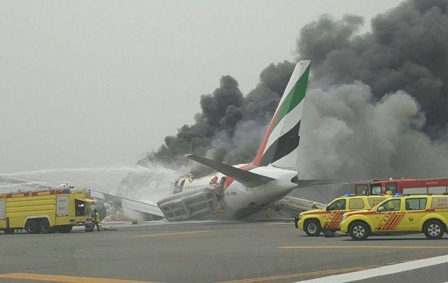 Фото: в Дубае загорелся пассажирский самолет