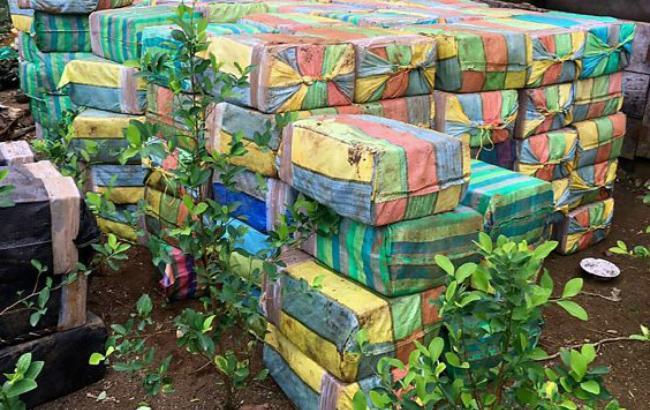Фото: в ході загальнонаціональної операції колумбійська поліція вилучила близько 5 тонн кокаїну (BBC)