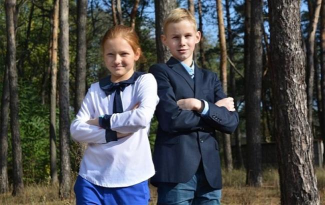 Фото: Микита Шульга і Софія-Христина Борисюк (ecotown.com.ua)