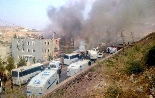Фото: взрыв в Турции