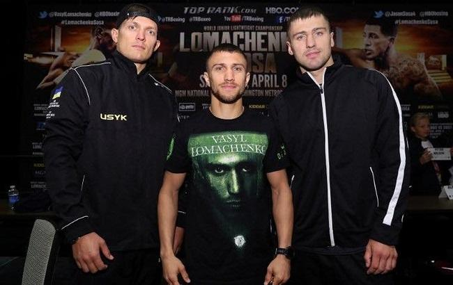 Фото: Усик, Ломаченко и Гвоздик