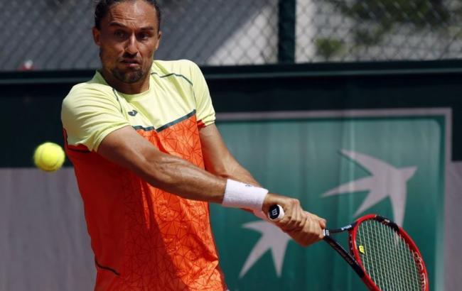 Долгополов недоиграл матч теннисного турнира вХертогенбосе