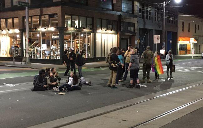 Фото: акція протесту в Сіетлі
