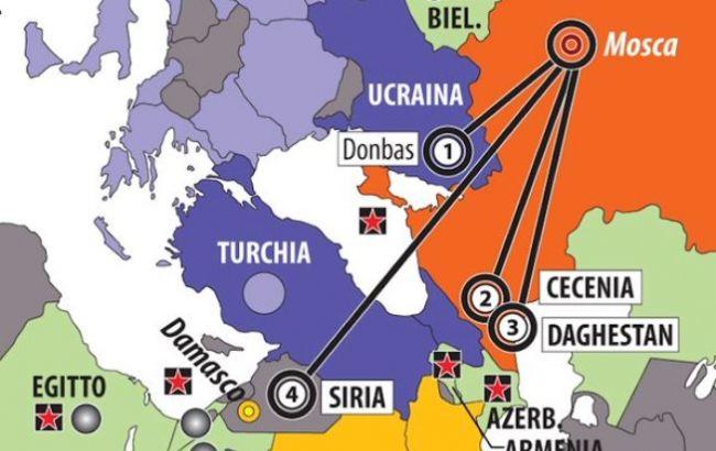 Фото: итальянское издание обозначило на карте Крым частью РФ