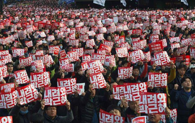 Фото: протесты в Сеуле