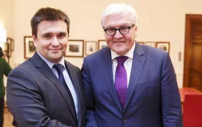 Фото: Павел Климкин и Франк-Вальтер Штайнмайер