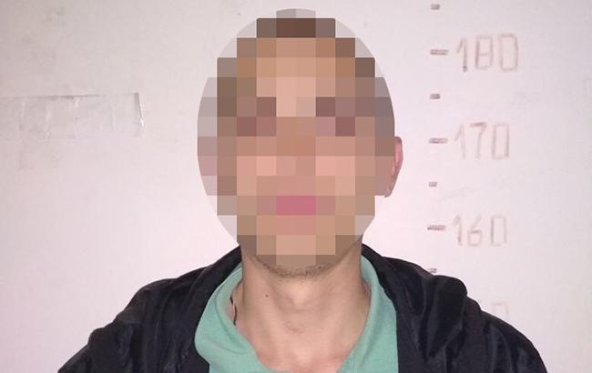 Фото: задержанный злоумышленник (npu.gov.ua)