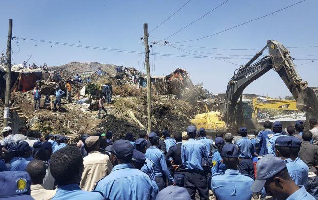 У столиці Ефіопії через зсув на звалищі загинуло 35 людей