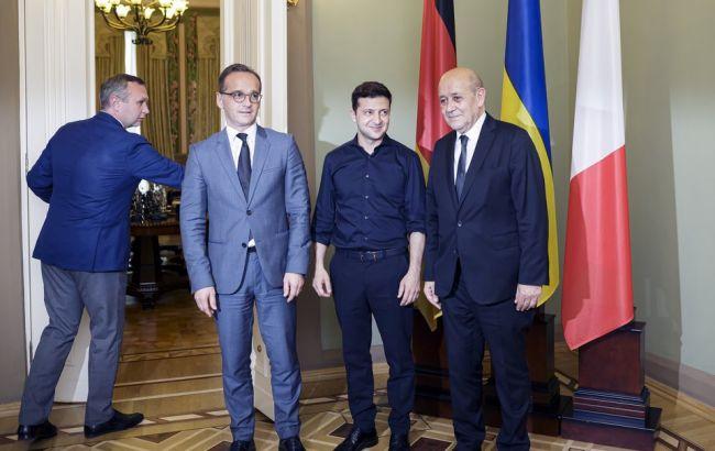Зеленський та глави МЗС Німеччини і Франції обговорили мінський процес