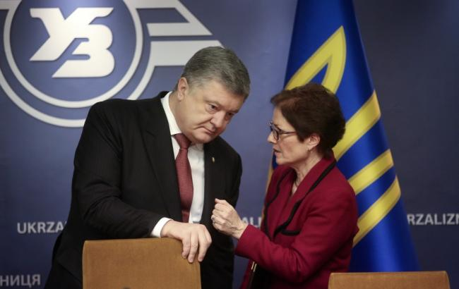 Фото: Петро Порошенко та Марі Йованович (president.gov.ua)