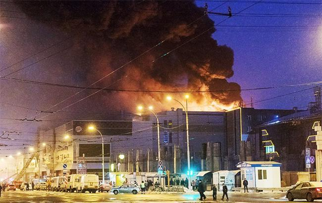 Пожежа в Кемерово (фото: Poshtar_info twitter)