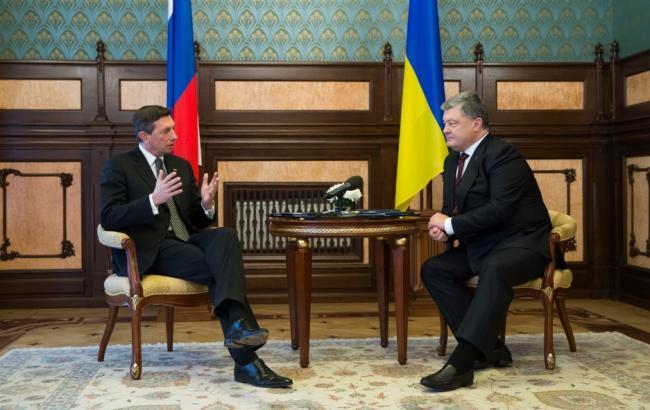 Президент Словении 12февраля прибудет в государство Украину срабочим визитом