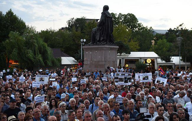 Фото: мітинг у Єревані