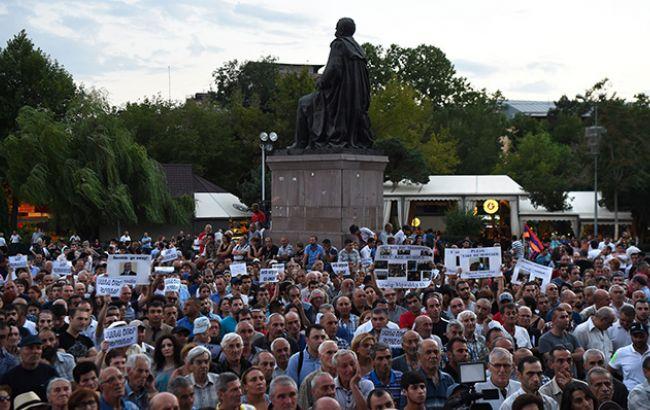 Фото: протест в Ереване