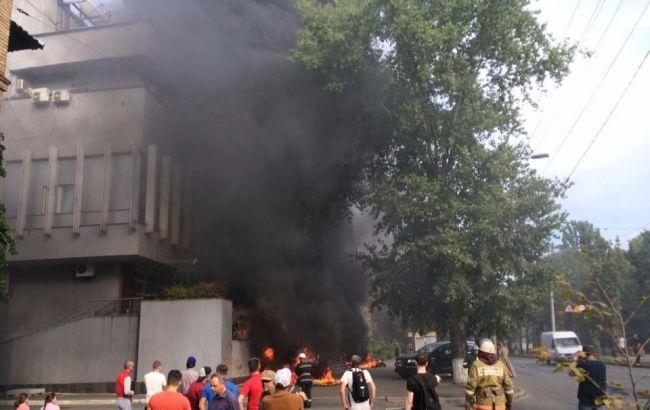 """Фото: пожежа в офісі """"Інтера"""""""