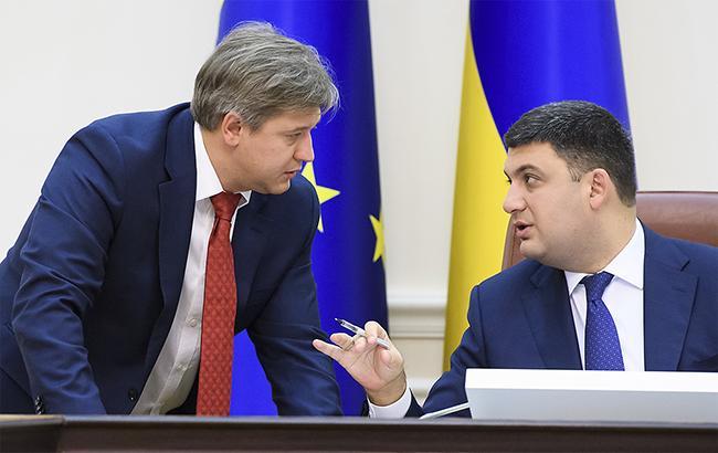 Александр Данилюк и Владимир Гройсман думают о том, как профинансировать дефицит госбюджета (фото kmu.gov.ua)