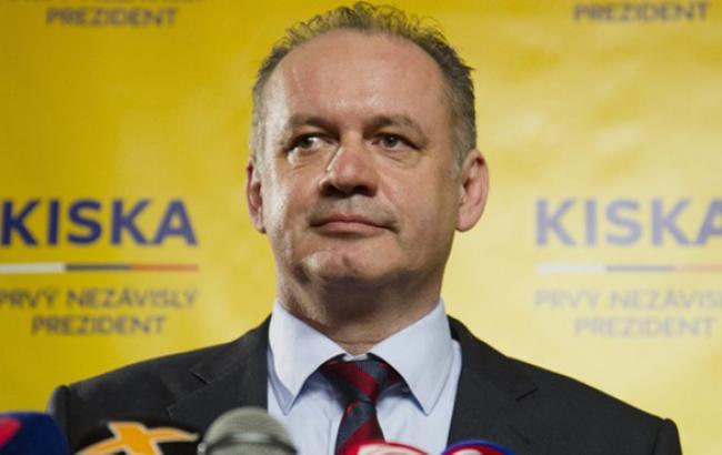 Президент Словаччини виступає за посилення санкцій проти Росії, - Цеголко