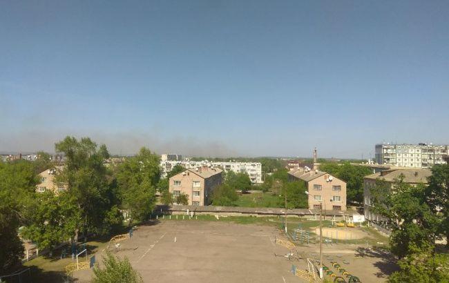 Фото: пожар на арсеналах в Балаклее (twitter.com/slobozhanyn)