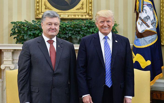 Фото: Дональд Трамп і Петро Порошенко (president.gov.ua)