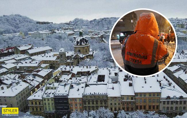 Снежный коллапс во Львове: город продолжает засыпать снегом пятый день (фото)