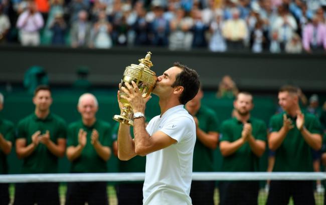 Фото: Роджер Федерер (Wimbledon)
