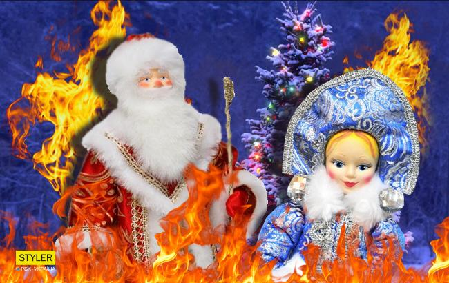 В огне (Коллаж РБК-Украина)