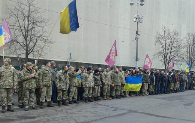 Фото: Участники памятного шествия в центре Киева