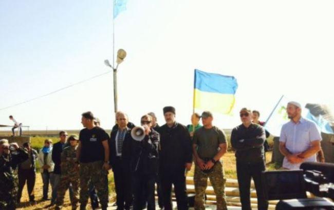 Фото: на кордоні з Кримом почалася блокада півострова
