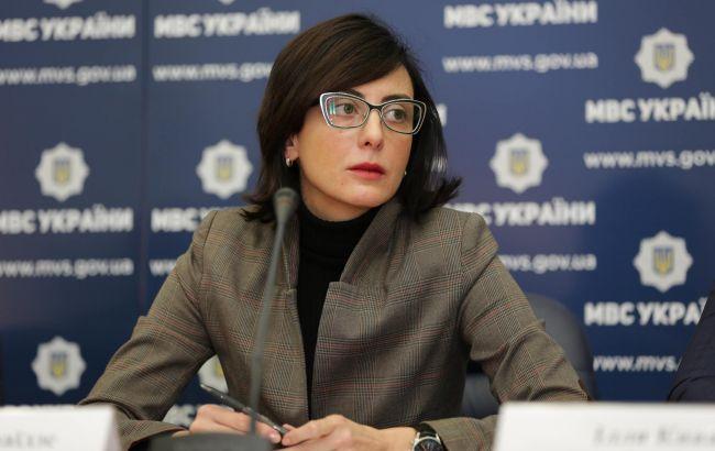 Фото: глава Нацполиции Хатия Деканоидзе