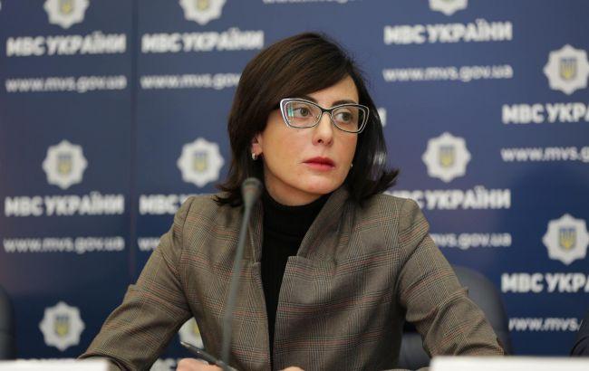 Фото: Деканоидзе заявила, что в Кривое Озеро прибудет полиция из Николаева, Херсона и Одессы