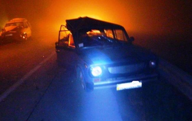 Фото: у Житомирській області з-за диму від пожеж сталося ДТП