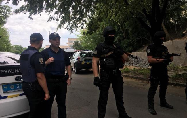 В Киеве проходят полицейские учения