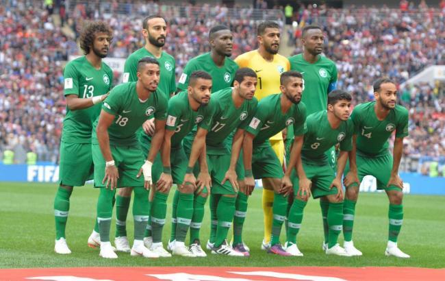 Фото: игроки сборной Саудовской Аравии (twitter.com/saudiFF)