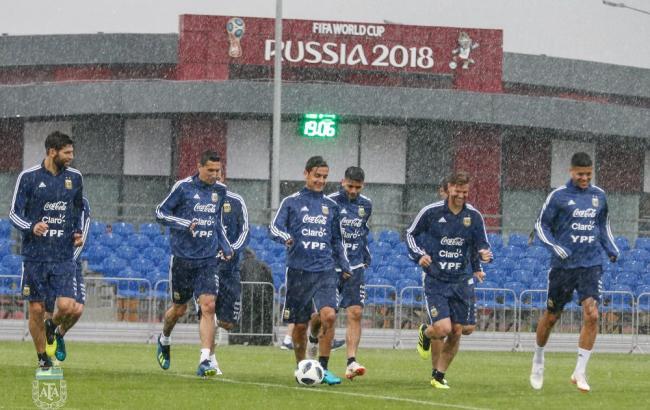 Фото: сборная Аргентины готовится к матчу с Хорватией (twitter.com/Argentina)